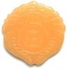 Semi-Precious 42x6mm Round Pendant Yellow Jade
